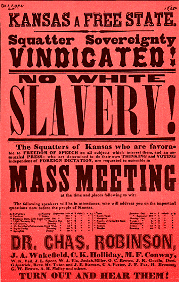 Kansas SLAVERY yes or no 1854